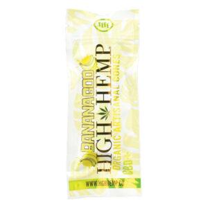 Paquete de wraps de banana goo de la marca high hemp