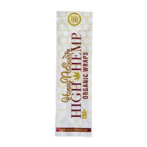 Paquete de wraps honey postwirld de la marca high hemp
