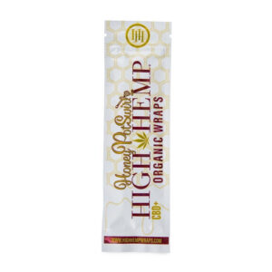 Paquete de wraps honey postwirld de la marca high hemp