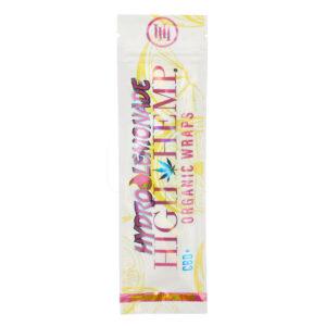 Paquete de wraps hydro lemonade de la marca high hemp
