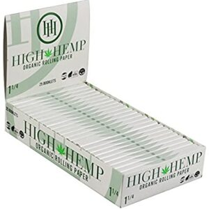 Paquete de libritos de papeles para rolar de la marca high hemp
