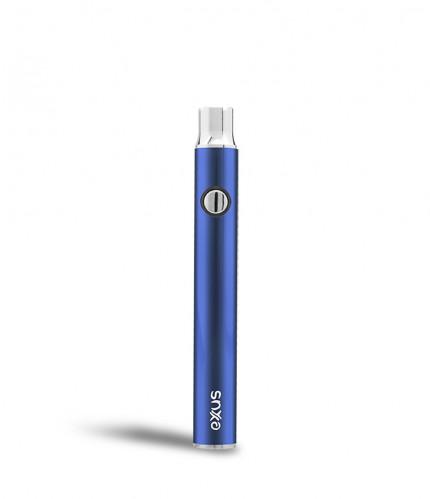 Exxus plus VV cartridge vaporizer color de azul visto de frente