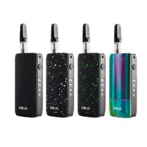 Exxus push cartridge vaporizer equipos de colores visto de frente