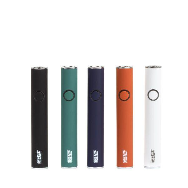 Grav micro pen battery equipos de colores visto de frente