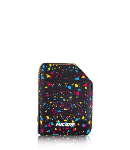 Exxus micare cartridge vaporizer color negro con puntos de colores visto de frente
