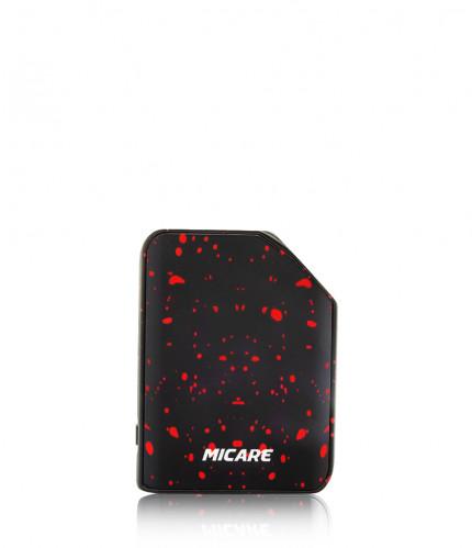 Exxus micare cartridge vaporizer color negro con puntos de rojo visto de frente