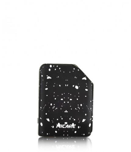 Exxus micare cartridge vaporizer color negro con puntos de blanco visto de frente
