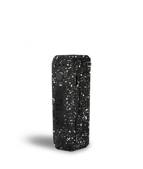 Wulf uni adjustable cartridge vaporizer color negro con puntos blancos vista de frente