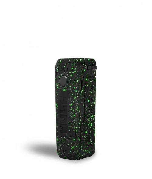 Wulf uni adjustable cartridge vaporizer color negro con puntos verde vista de frente