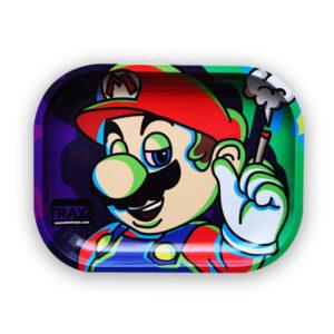 Charola para rolar Mario bros, de la marca awesome trays