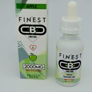 Cbd 2000mg sabor apple tincture de la marca finest cbd