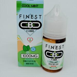 Cbd 1000mg sabor cool mint e-liquid de la marca finest cbd