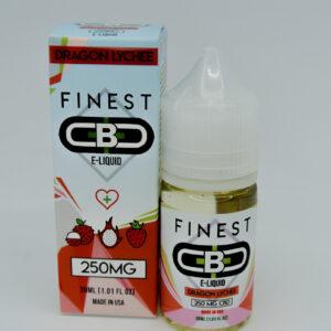 Cbd 250mg sabor dragon lychee e-liquid de la marca finest cbd