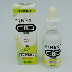 Cbd 1500mg sabor lemonade tincture de la marca finest cbd