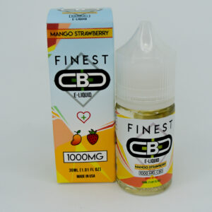 Cbd 1000mg sabor mango strawberry e-liquid de la marca finest cbd
