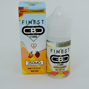 Cbd 250mg sabor mango strawberry e-liquid de la marca finest cbd