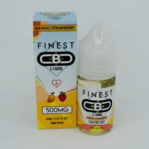 Cbd 500mg sabor mango strawberry e-liquid de la marca finest cbd