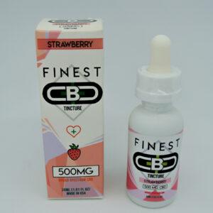 Cbd 500mg sabor strawberry tincture de la marca finest cbd