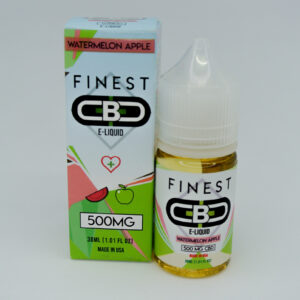 Cbd 500mg sabor watermelon apple e-liquid de la marca finest cbd